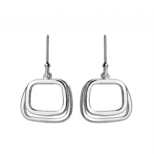 Silver Retro Earrings